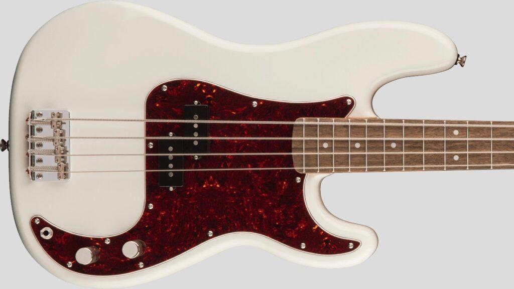 Squier by Fender 60 Precision Bass Classic Vibe Olympic White con custodia Fender in omaggio