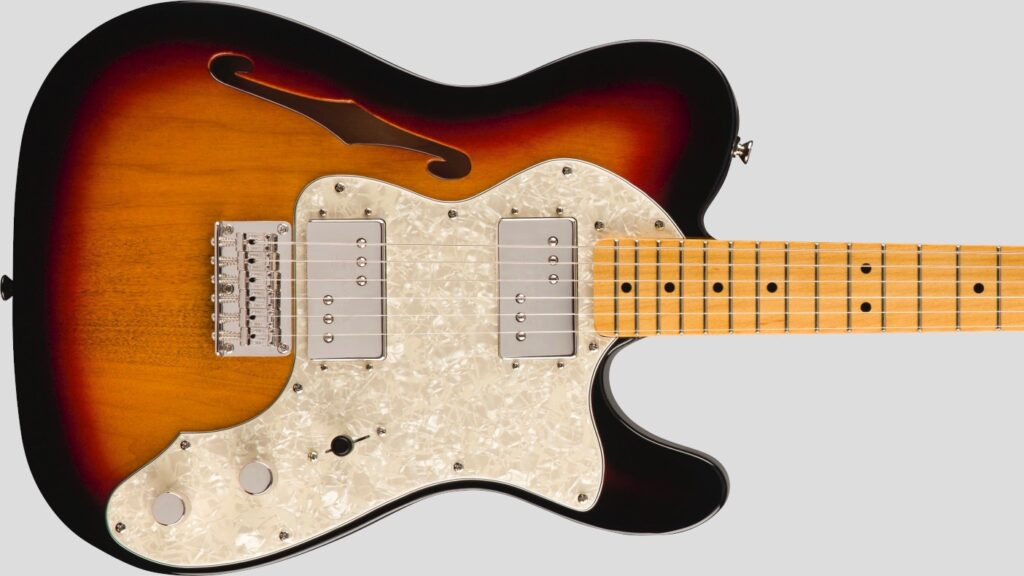 Squier by Fender 70 Telecaster Thinline Classic Vibe 3-Color Sunburst 0374070500 con custodia Fender in omaggio