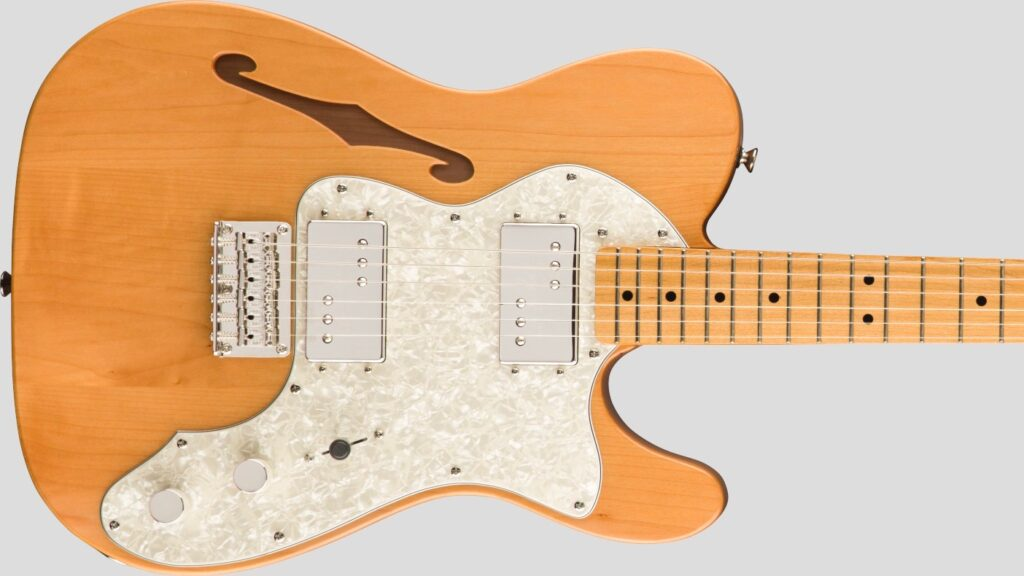 Squier by Fender 70 Telecaster Thinline Classic Vibe Natural 0374070521 con custodia Fender in omaggio