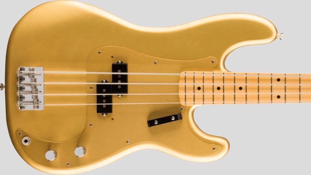 Fender 50 Precision Bass American Original Aztec Gold 0190102878 Made in Usa inclusa custodia rigida Fender G&G