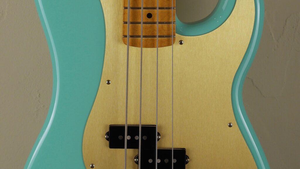 Fender 50 Precision Bass Vintera Seafoam Green 0149612373 Made in Mexico inclusa custodia Fender Gig Bag Deluxe