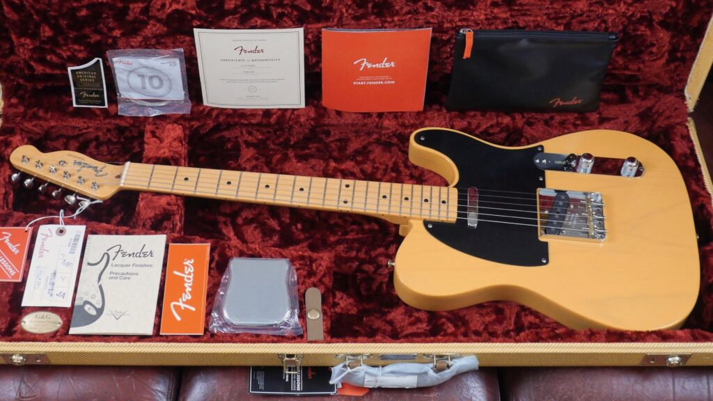 Fender 50 Telecaster American Original Butterscotch Blonde 0110132850 Made in Usa inclusa custodia rigida G&G
