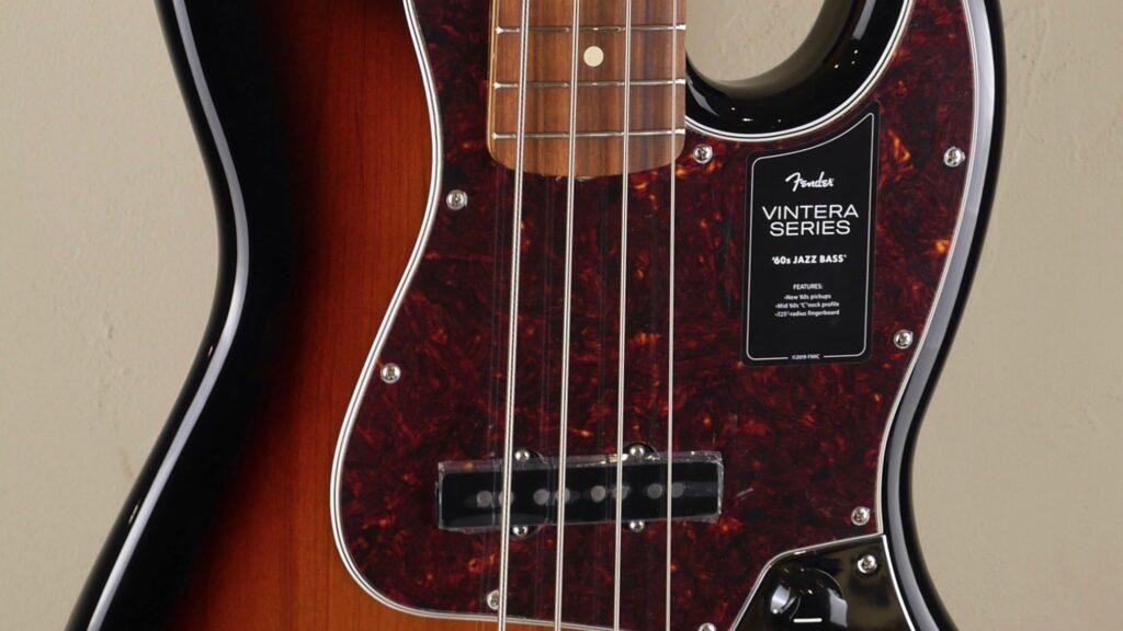 Fender 60 Jazz Bass Vintera 3-Color Sunburst 0149633300 Made in Mexico inclusa custodia Fender Gig Bag Deluxe