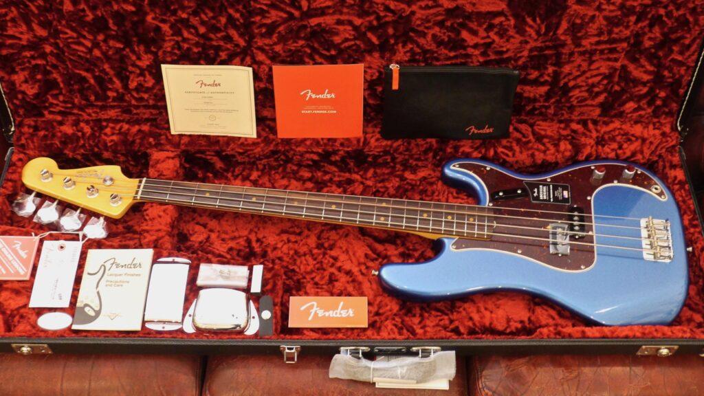 Fender 60 Precision Bass American Original Lake Placid Blue 0190120802 Made in Usa inclusa custodia rigida G&G