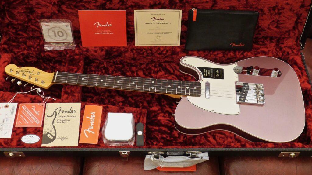Fender 60 Telecaster American Original Burgundy Mist Metallic 0110140866 Made in Usa inclusa custodia G&G