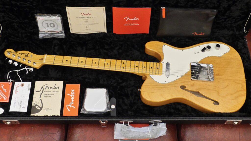 Fender 60 Telecaster Thinline American Original Aged Natural 0110172834 Made in Usa inclusa custodia rigida