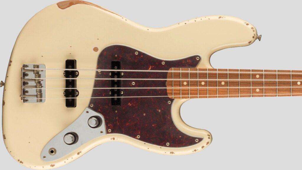 Fender 60th Anniversary Jazz Bass Vintera Road Worn Olympic White 0140226705 inclusa custodia rigida Fender