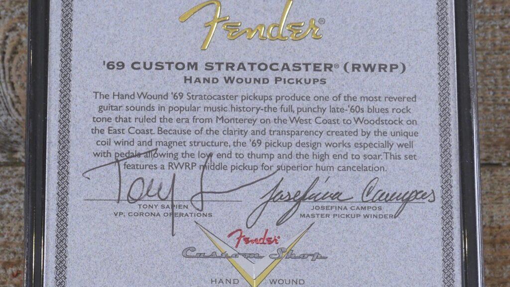 Fender Custom Shop Josefina Campos 69 Custom Stratocaster Hand-Wound Pickup Set 0992286000 Made in Usa