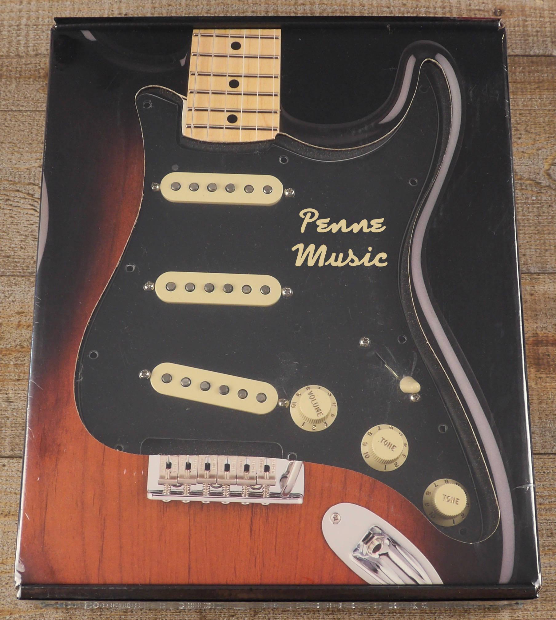 Fender Custom Shop Pre-Wired Fat 50 Stratocaster Pickup Set Pickguard Black 1