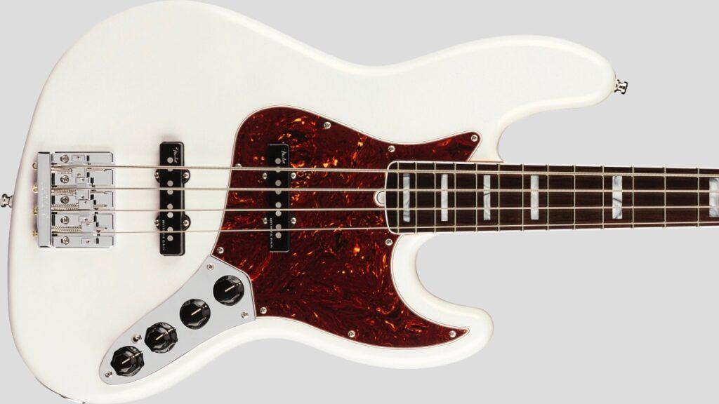 Fender Jazz Bass American Ultra Arctic Pearl 0199020781 Made in Usa inclusa custodia rigida Fender