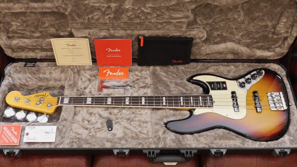 Fender Jazz Bass American Ultra Ultraburst 0199020781 Made in Usa inclusa custodia rigida Fender