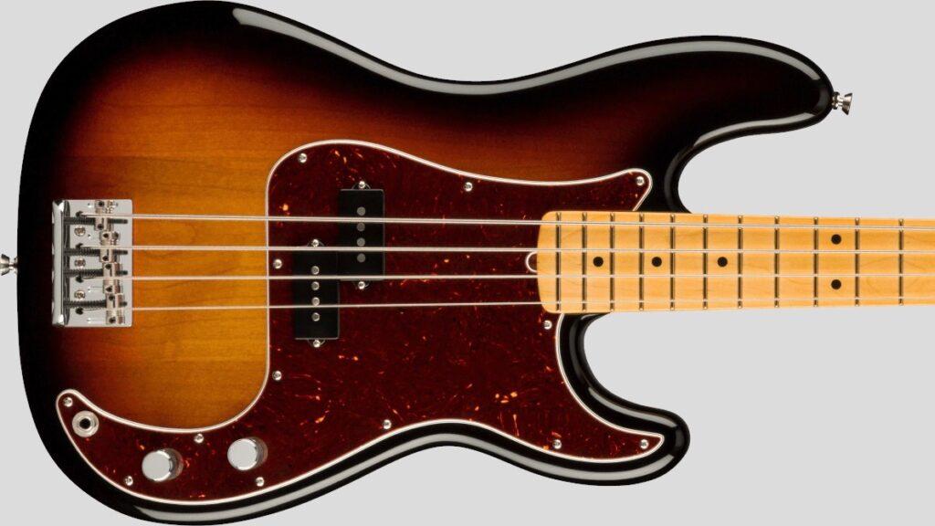Fender Precision Bass American Professional II 3-Color Sunburst MN Made in Usa inclusa custodia rigida Fender