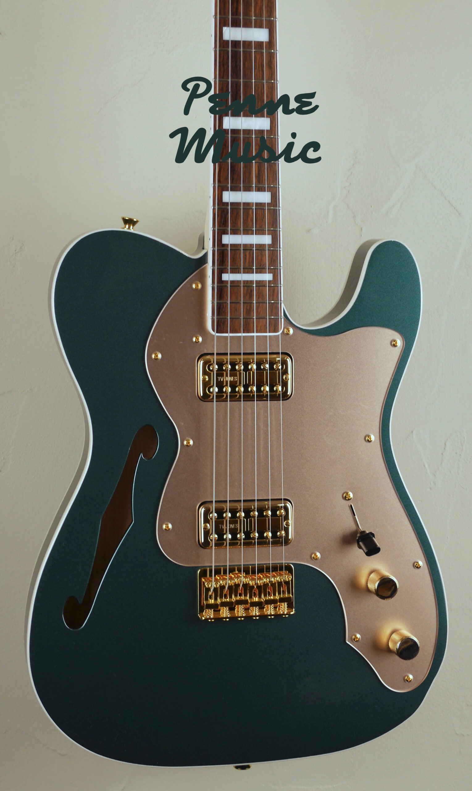 Fender Super Deluxe Thinline Telecaster Limited Edition Sherwood Green Metallic 3