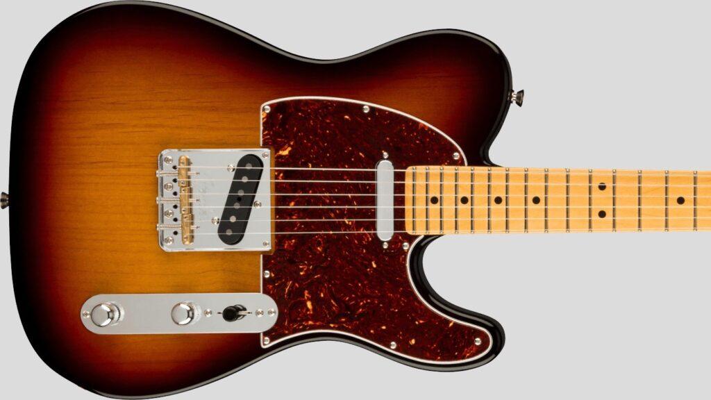 Fender Telecaster American Professional II 3-Color Sunburst MN Made in Usa inclusa custodia rigida Fender
