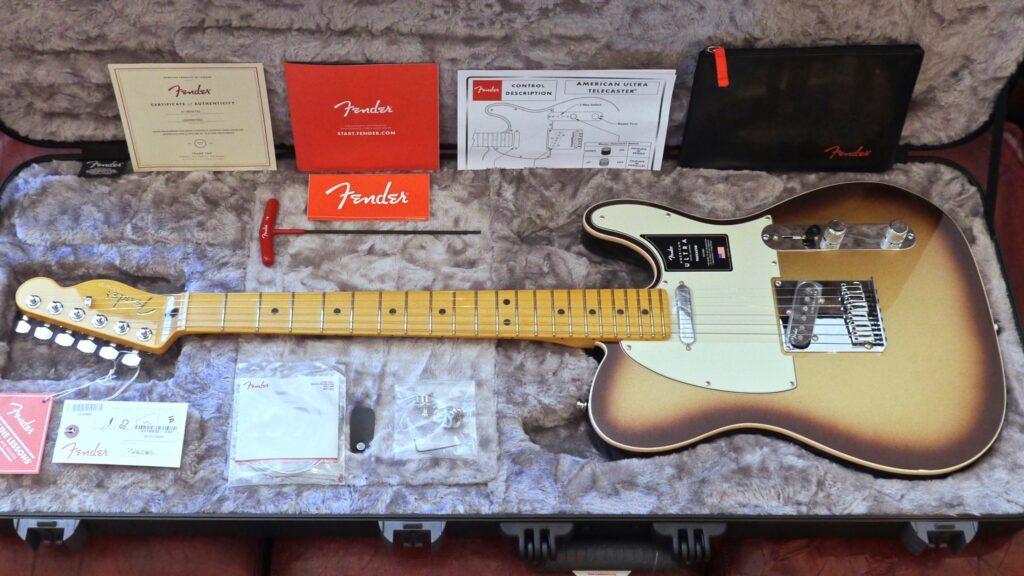 Fender Telecaster American Ultra Mocha Burst 0118032732 Made in Usa inclusa custodia rigida Fender