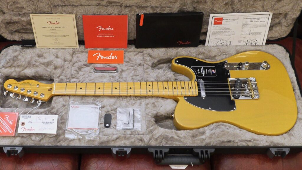 Fender Telecaster American Professional II Butterscotch Blonde Made in Usa inclusa custodia rigida Fender