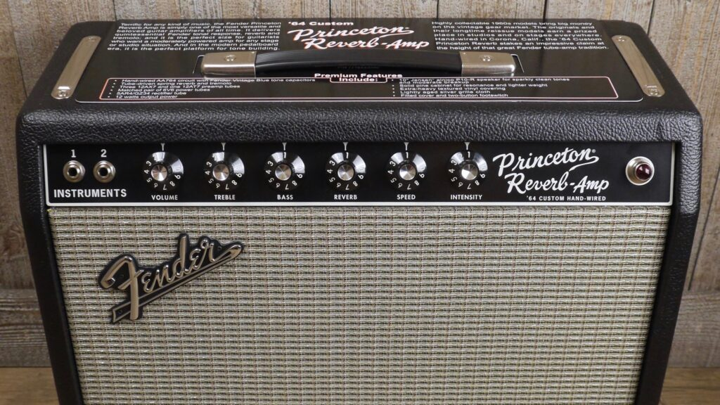 Fender 64 Custom Princeton Reverb Hand-Wired 8181006000 Made in Usa inclusi Footswitch e Cover