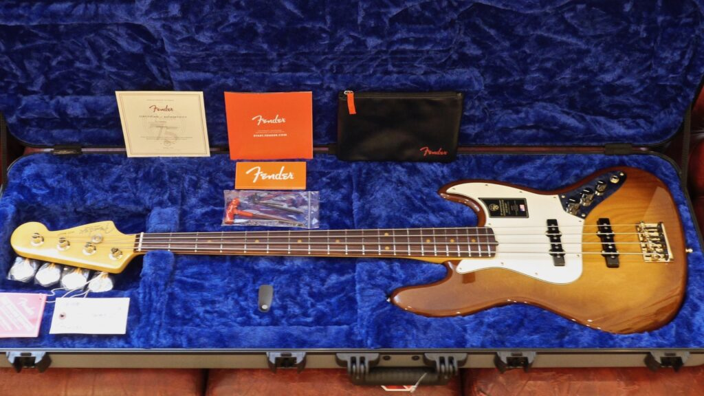 Fender 75th Anniversary Commemorative Jazz Bass Limited Edition 2-Color Bourbon Burst 0177562833 Made in Usa