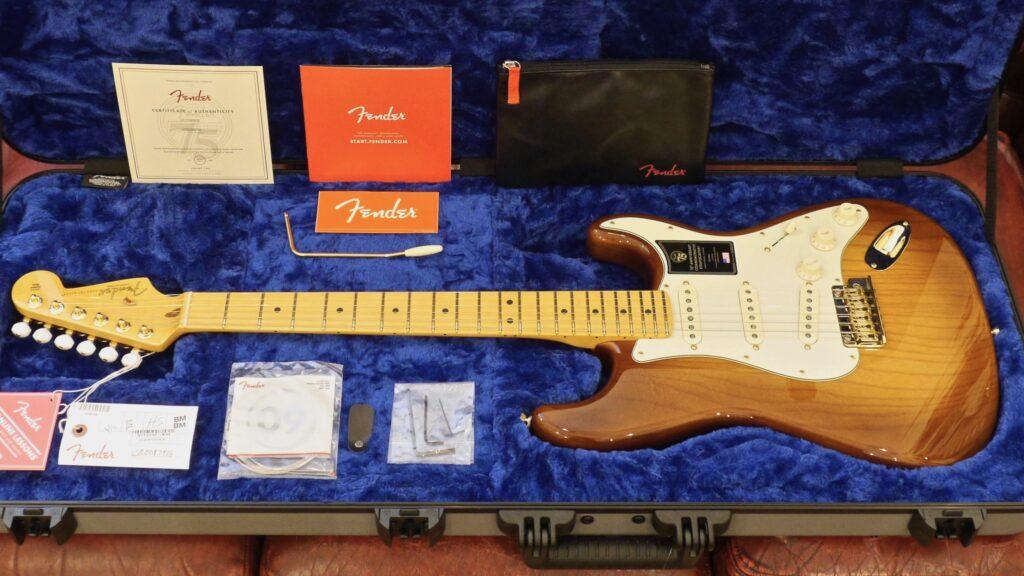Fender 75th Anniversary Commemorative Stratocaster Limited Edition 2-Color Bourbon Burst Made in Usa