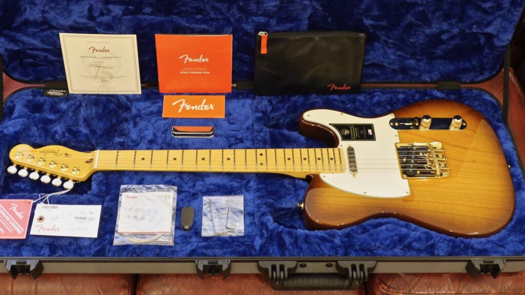 Fender 75th Anniversary Commemorative Telecaster Limited Edition 2-Color Bourbon Burst Made in Usa