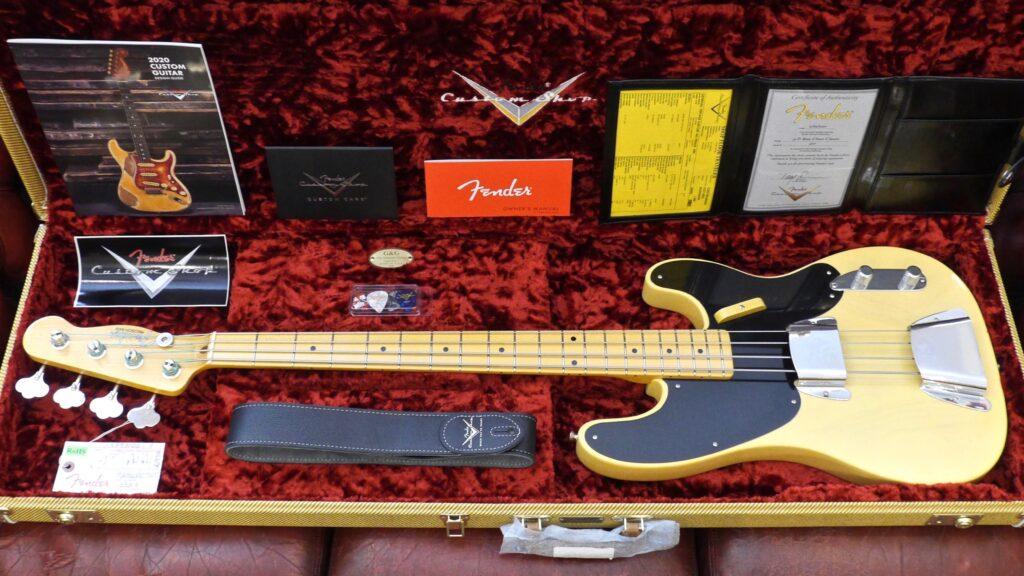 Fender Custom Shop 1951 Precision Bass Vintage Custom Nocaster Blonde NOS 9235000565 Made in Usa