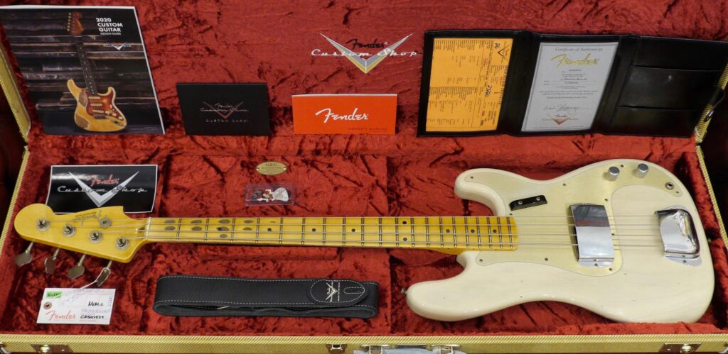 Fender Custom Shop 1957 Precision Bass Time Machine Aged White Blonde Journeyman Relic 9235001165 Made in Usa