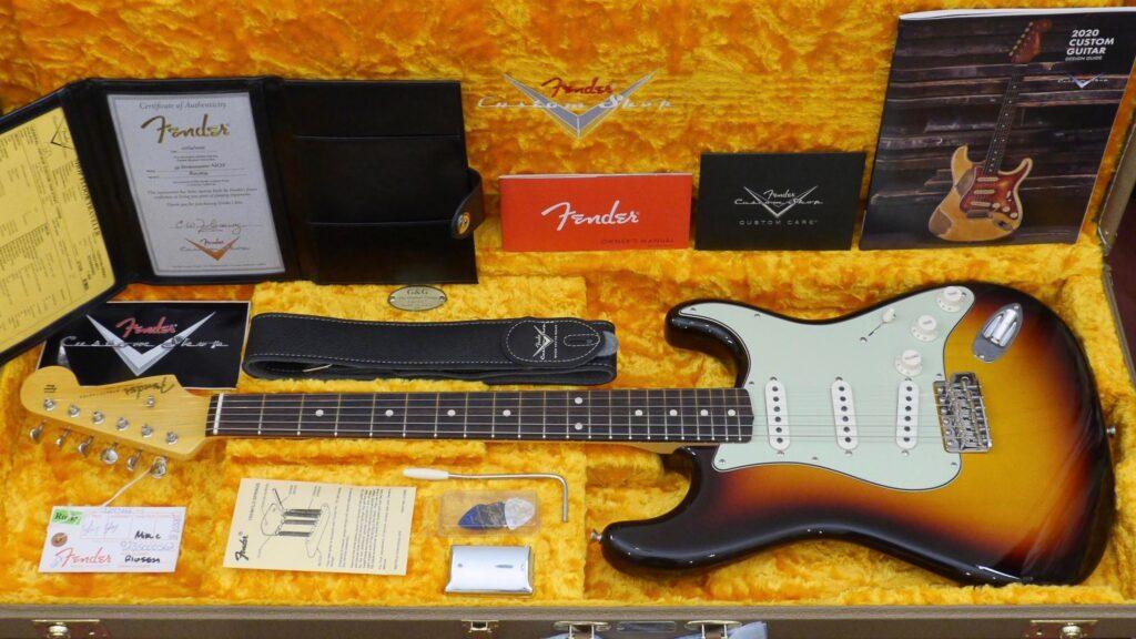 Fender Custom Shop 1959 Stratocaster Vintage Custom Chocolate 3-Color Sunburst NOS 9235000562 Made in Usa