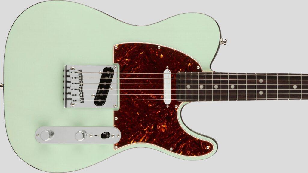 Fender Telecaster American Ultra Luxe Transparent Surf Green 0118080735 Made in Usa inclusa custodia rigida