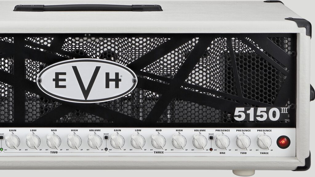 EVH 5150III 100W 6L6 Head Ivory 2251006400 Made in Mexico incluso 4-Button Footswitch