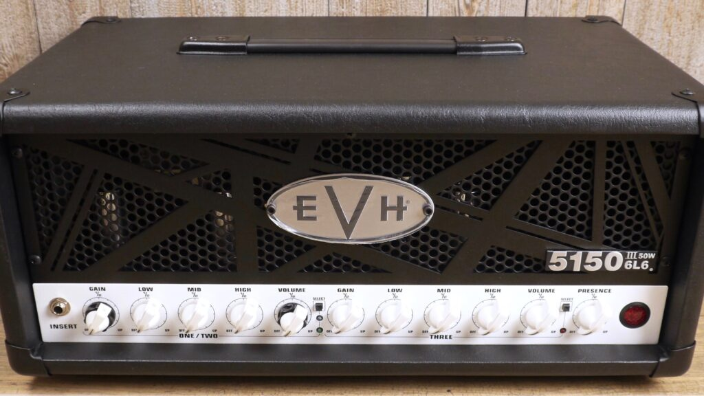 EVH 5150III 50W 6L6 Head Black 2253016010 Made in Mexico incluso 4-Button Footswitch