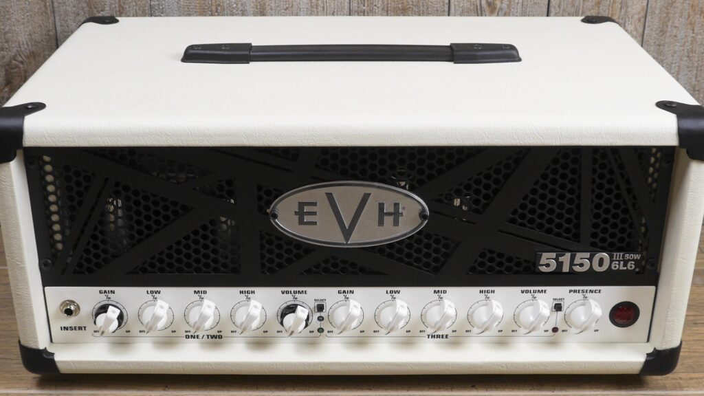 EVH 5150III 50W 6L6 Head Ivory 2253016410 Made in Mexico incluso 4-Button Footswitch