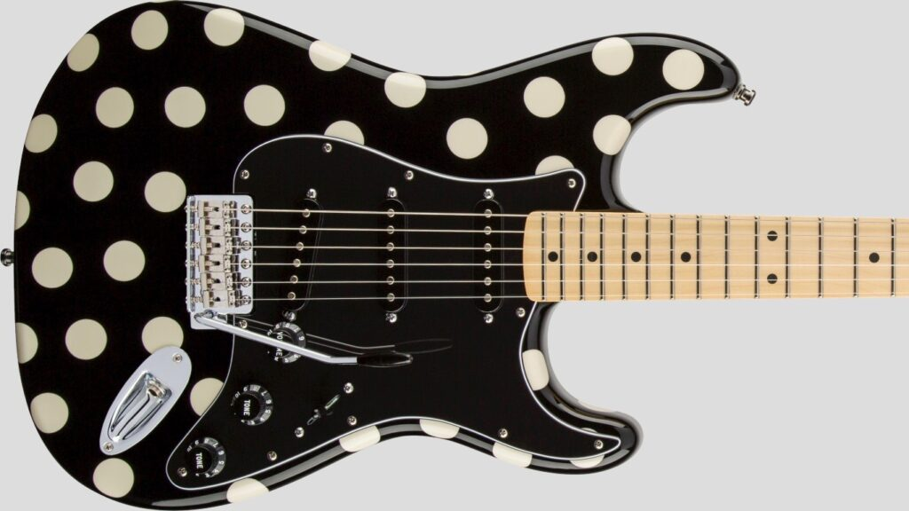 Fender Buddy Guy Stratocaster Polka Dot Finish 0138802306 Made in Mexico inclusa custodia Fender Gig Bag Deluxe