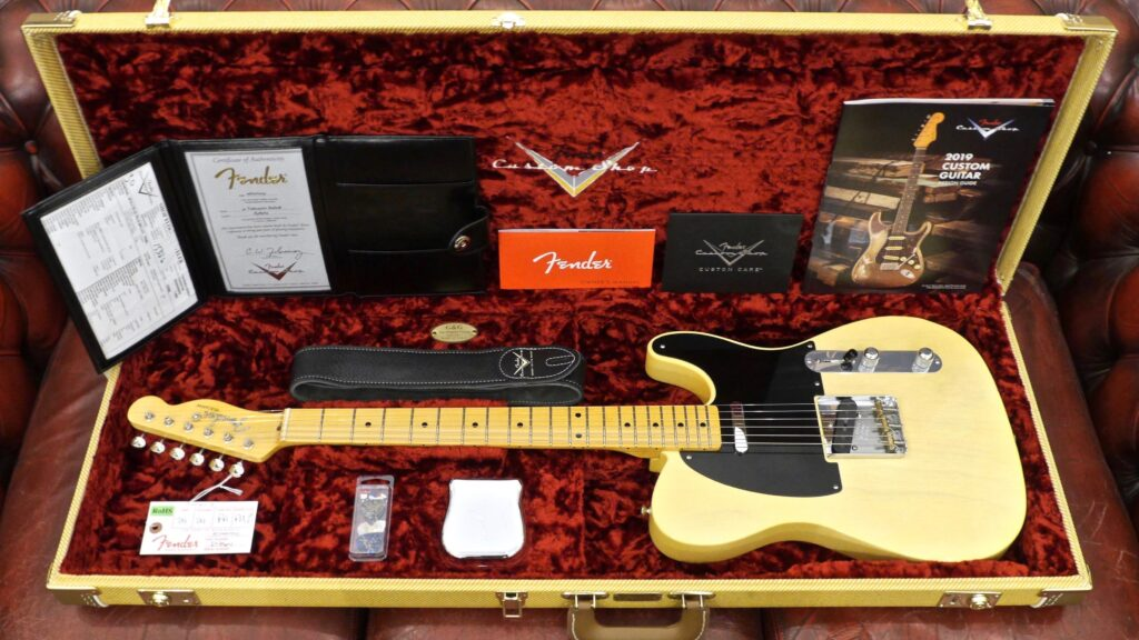 Fender Custom Shop 1952 Telecaster 2019 Limited Edition Faded Nocaster Blonde Lush Closet Classic Made in Usa