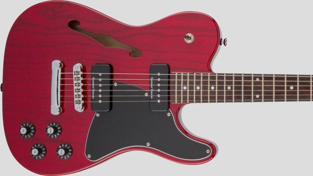Fender Jim Adkins JA-90 Telecaster Thinline Crimson Red Transparent 0262354538 Made in Indonesia