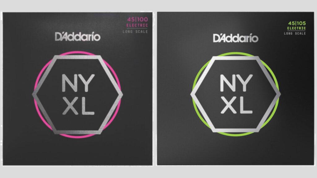 D'Addario NYXL 2 mute di corde per basso elettrico a scelta 45-100 / 45-105 Nickel Wound Long Scale Made in Usa