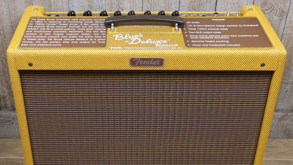 Fender Blues Deluxe Reissue Lacquered Tweed 2232206000 Made in Mexico inclusi 2-Button Footswitch e Cover