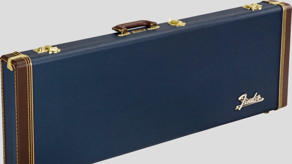 Fender Classic Wood Case per chitarra elettrica Stratocaster / Telecaster Navy Blue 0996106302