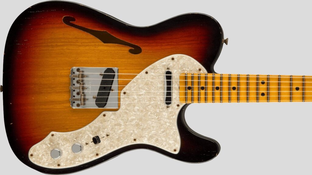 Fender Custom Shop 1969 Telecaster Thinline Time Machine 3-Color Sunburst Journeyman Relic 9231012898