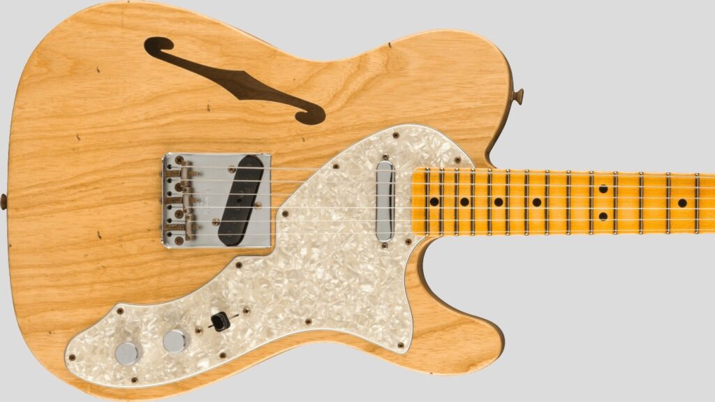 Fender Custom Shop 1969 Telecaster Thinline Time Machine Aged Natural Journeyman Relic 9231012897 Made in Usa