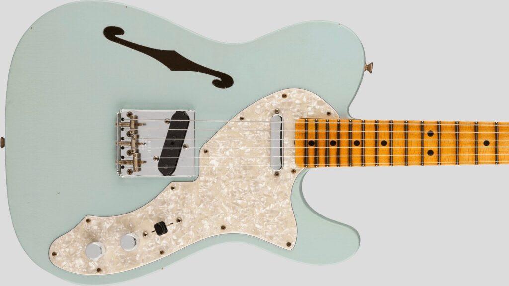 Fender Custom Shop 1969 Telecaster Thinline Time Machine Aged Sonic Blue Journeyman Relic 9231012899