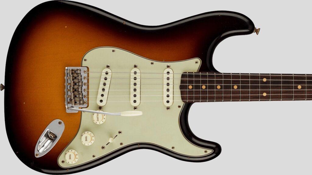 Fender Custom Shop 62/63 Stratocaster Limited Edition Faded Aged 3-Color Sunburst Journeyman Relic 9231012529