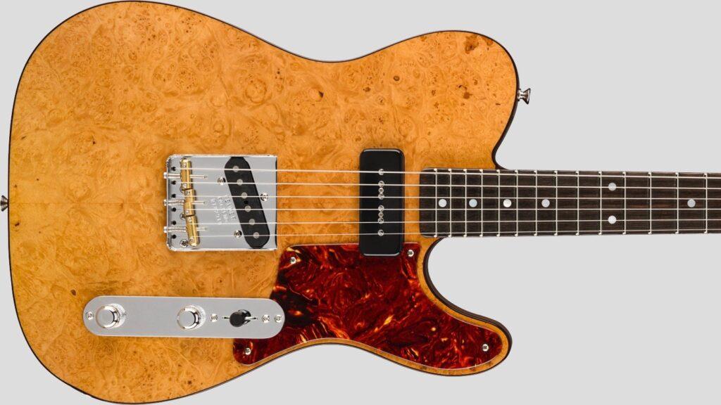 Fender Custom Shop P90 Maple Burl Telecaster Artisan Aged Natural NOS 9235001199 Made in Usa
