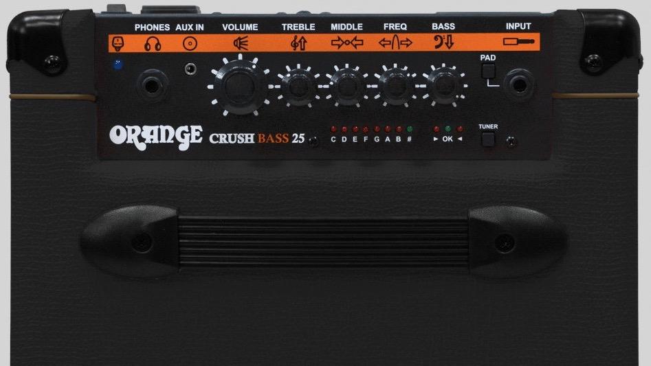 Orange Crush Bass 25 Black 25 watt 1x8 with Chromatic Tuner