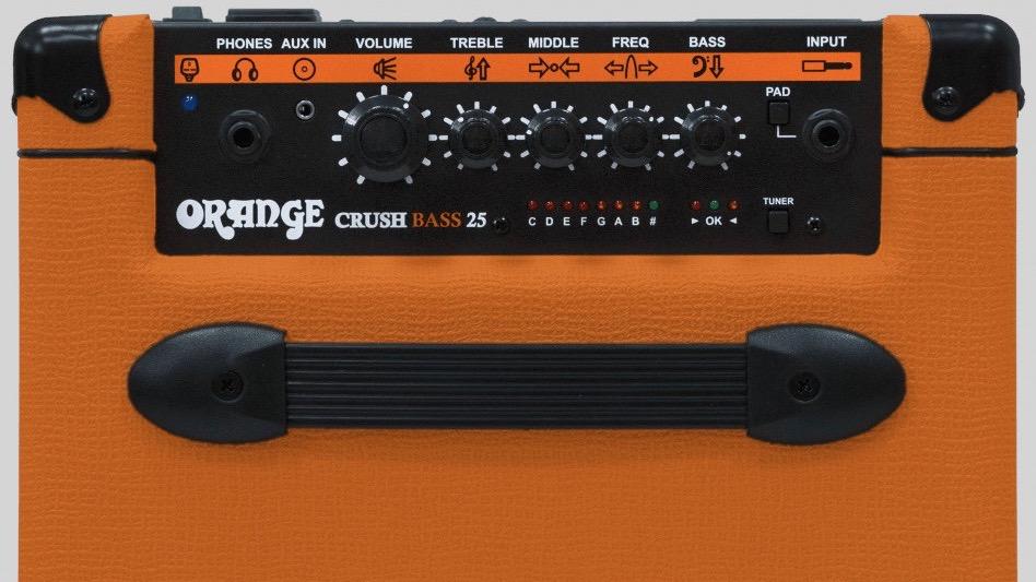 Orange Crush Bass 25 watt 1x8 with Chromatic Tuner
