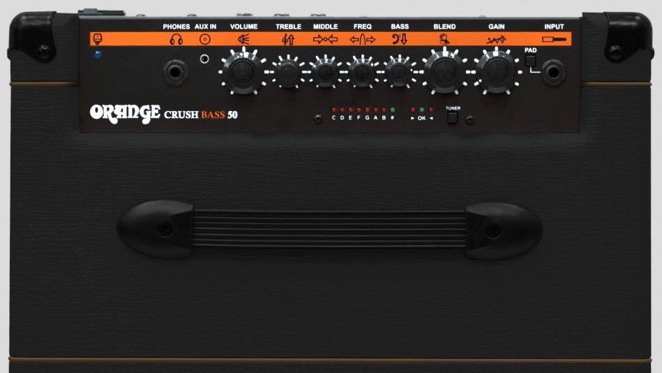 Orange Crush Bass 50 Black 50 watt 1x12 with Chromatic Tuner