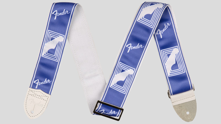 "Fender Custom Monogrammed Strap Lake Placid Blue 2"" 0990627002 Made in Usa"