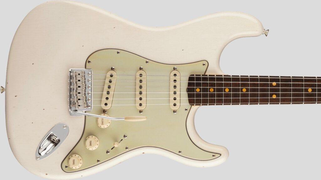 Fender Custom Shop 1963 Stratocaster Time Machine Aged Olympic White Journeyman Relic 9235001424