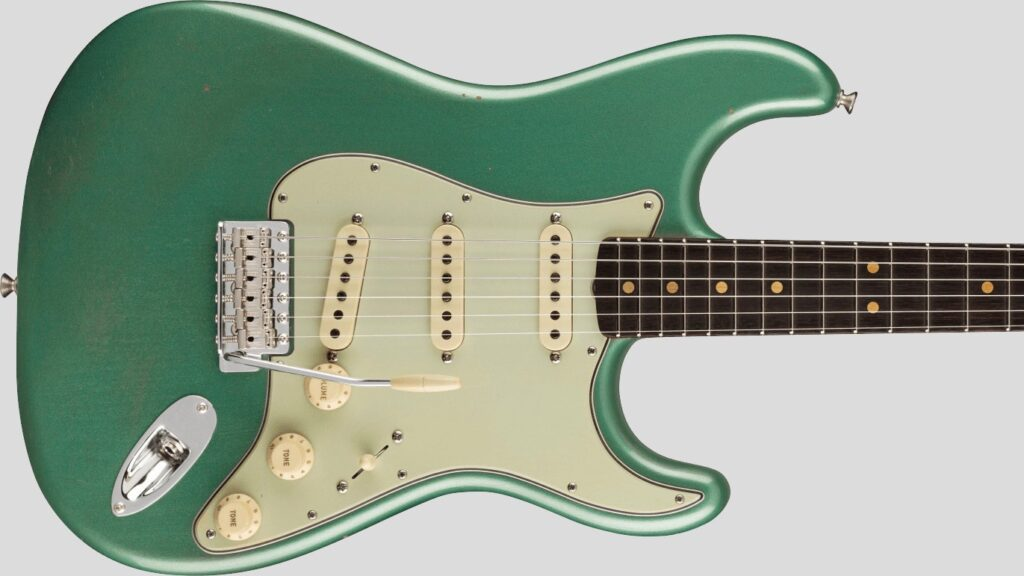 Fender Custom Shop 1963 Stratocaster Faded Aged Sherwood Green Metallic Journeyman Relic 9235001425