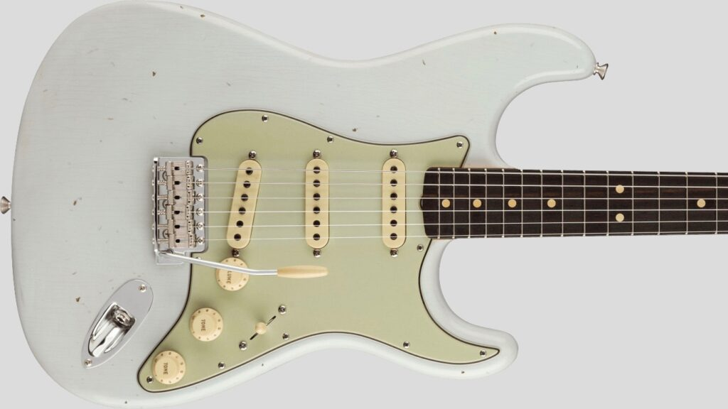 Fender Custom Shop 1963 Stratocaster Time Machine Super Faded Aged Sonic Blue Journeyman Relic 9235001423