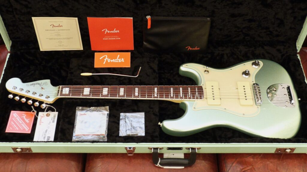 Fender Jazz Strat Parallel Universe Vol II Mystic Surf Green 0176730718 Made in Usa inclusa custodia rigida G&G